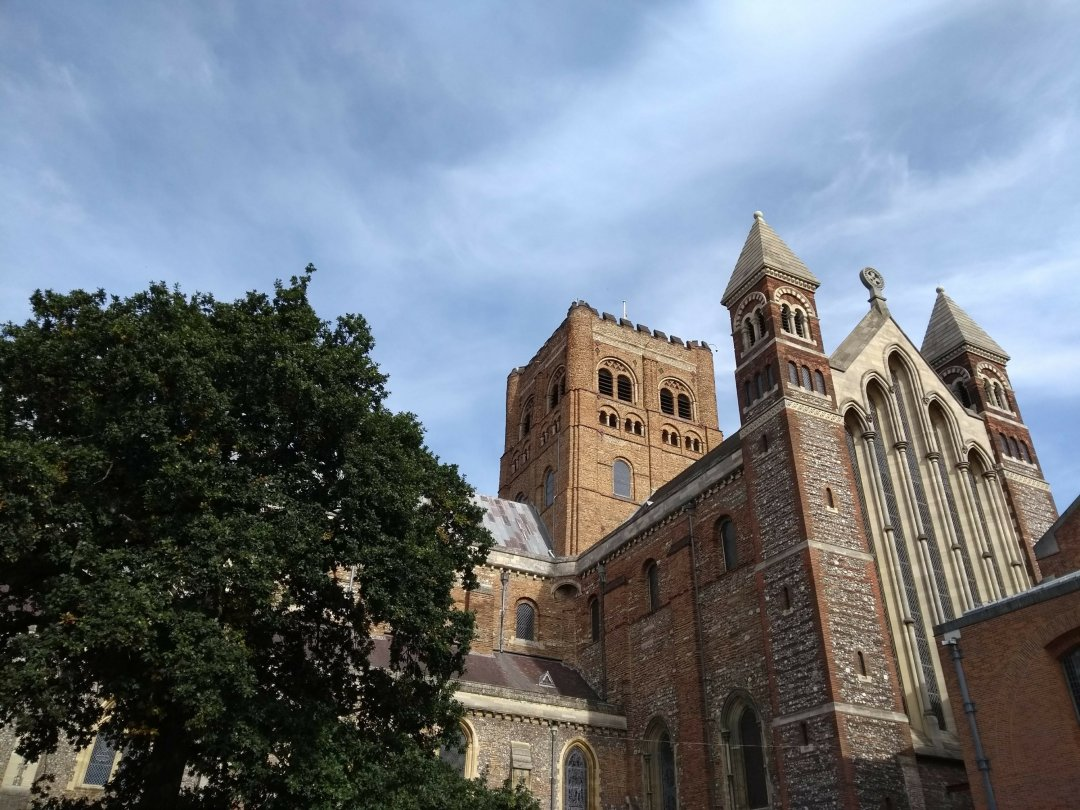 St Alban's Abbey. Travellig the world can help you enjoy things closer to home.
